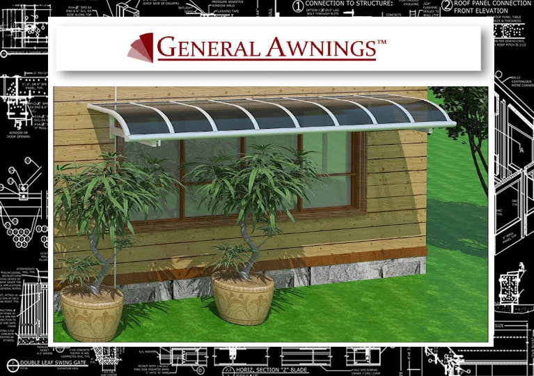 """General Awnings: Window Awning """"L Style"""" Titan Canopy (MPS ..."""